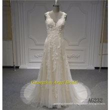 Sleeveless Mermaid Amazing Lace Bridal Dress