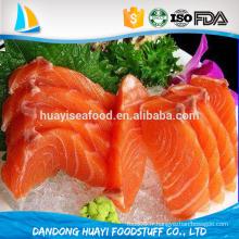 Frozen IQF Chum Salmon Fillets Fruits de mer sans haute qualité sans peau fabriqués en Chine