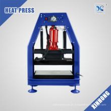 Placa de aquecimento dupla de 12 tonas Pressão de resina de calor pneumática hidráulica