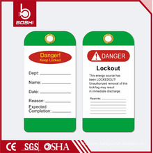 BOSHI BD-P14 Green Lockout Label for Industry Safety