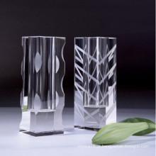 Ofício de vaso de cristal de alta qualidade para decoração de casa
