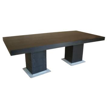 Black Rectangular Dining Table for Hotel Furniture