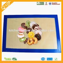 Custom FDA LFGB aprovado China fabricante Fábrica de preço de alta qualidade Food Grade Nonstick Fiberglass Silicone Baking Mat