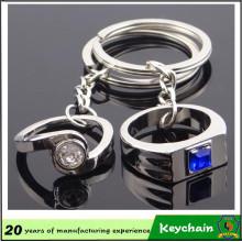 Corrente chave do anel de Ffinger do presente do dia dos namorados para amantes