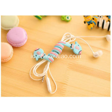 Kabel Silicone Wind Wind Winder Untuk Earphone