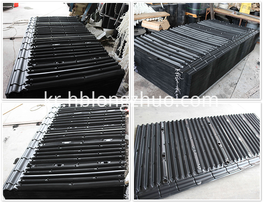 Cross Flow Hanging Cooling Tower Fill Media Materials