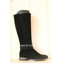 Metal Heel Casual Women Leather Boots with Fashion Details