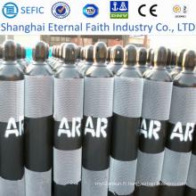 Cylindre à gaz d'argon sans couture à haute pression 40L (ISO9809-3)