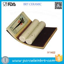 Titular de la tarjeta de identificación de cerámica de estilo de pintura de paisaje al por mayor