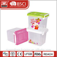plastic storage container w/wheels 2.2L