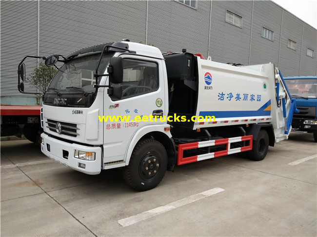 156HP 5T Garbage Compactor Trucks