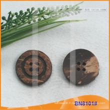 Boutons de noix de coco naturels pour le vêtement BN8101