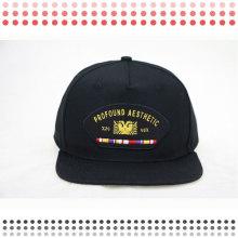 3Д вышивка snapback шляпы с кожа краев