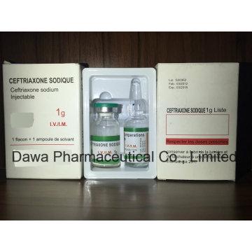 Injeção de sódio de ceftriaxona medicina geral