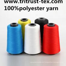 Spun Polyester Nähgarn für Jesans und T-Shirt