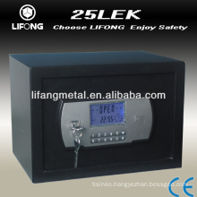 Electronic combination safe box with double security keys