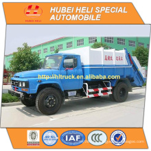 DONGFENG 4x2 8cbm rear loader garbage truck with pressing mechanism 140hp hot sale for export