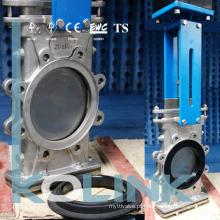 Através da Lâmina Bi-Direcional Válvula de Porta de Faca com Resiliente Substituível Assentado