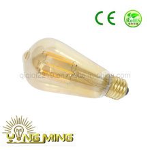 St64 6W Gold Colored Dimmable LED Hotel Light