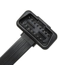 Plano de 16 pinos 1 1or2 veículo Dual conector Plug Elm327 OBD 2 macarrão cabo Dianostic ferramenta