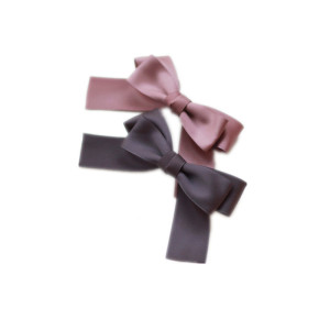 dunkle Farbe Satinband Bogen Hairbow Haarclip
