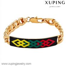 73073-Xuping Jewelry Wholesale Fashion 18K chapado en oro pulseras de los hombres con aleación de cobre