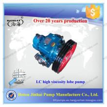 Botou Jinhai LC series bombas de líquido de grado alimentario de alto grado de viscosidad y aislamiento de calor bituminoso bomba de lóbulos