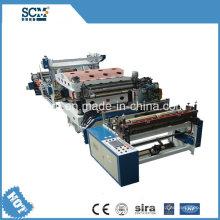 Máquina de estampación de papel caliente de plástico / papel / cuero