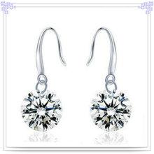 Pendiente de cristal de plata joyería de plata esterlina jewelry925 (se077)