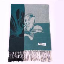170 * 68cm Padrão de flor lenço quente de inverno Pashmina para senhora