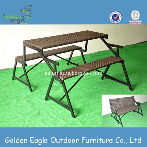 Aluminum Patio PE Wicker Furniture