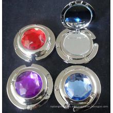 Regalos de moda señoras metal espejo gancho con cristal (f2021)