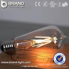 2W 4W 6W ST64 LED Filament Bulb Light With E27 Lamp Holder, CE RoHS