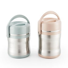 Portable multi-layer vacuum insulated pot  thermal tiffin cooker food storage box
