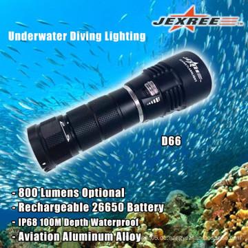Tauchen 800 Lumen Helligkeit Wasserdichte Aluminium Taschenlampen