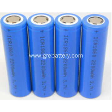 3.7V 2200mAh 18650 Size Li-ion Battery Cell