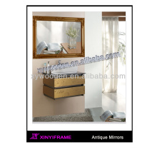 Black wood rectangle bathroom mirror fogless shower mirror
