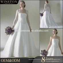 Лучшее качество свадебные платья кружева половина рукава