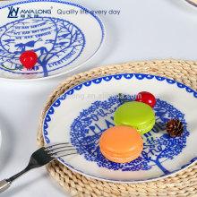 Diferentes estaciones de dibujo de porcelana fina de hueso de China Decorativas Home Decor Placa