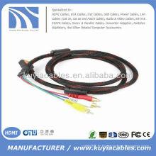 Câble HDMI haute qualité de 5 pieds 1.5M à câble RCA Câble audio AV vidéo