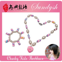 Belle fait à la main Bubblegum Boutique Sugar Bracelet Collier Kid Enfant Bijoux Set