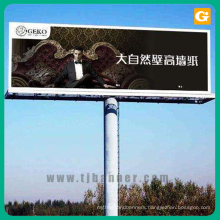 Outdoor billboard banner sign