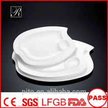 P & T fábrica de porcelana dividida placas, servindo pratos, placas de exibição