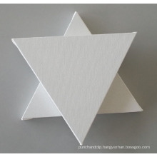 Blank Stretched Canvas in Triangle Shape