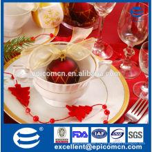 Высокое качество бытовой рождественский подарок новый костяной фарфор чашки и блюдца чайный сервиз