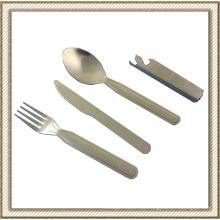 4 piezas conjunto de cubiertos de acero inoxidable de (CL2C-DBL6C)