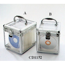 high quality 100&80 CD disks aluminum DVD box with clear acrylic panel as walls wholesale