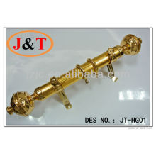 35mm Golden Curtain Rod with Plastic Paper Round