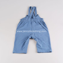 Wholesale Baby Summer Blue Cotton Crepe Fabric Romper