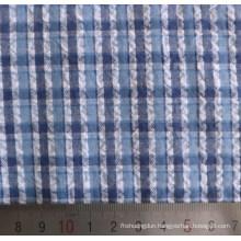 100%Cotton Crimp Cloth Seersucker Yarn Dyed Fabric